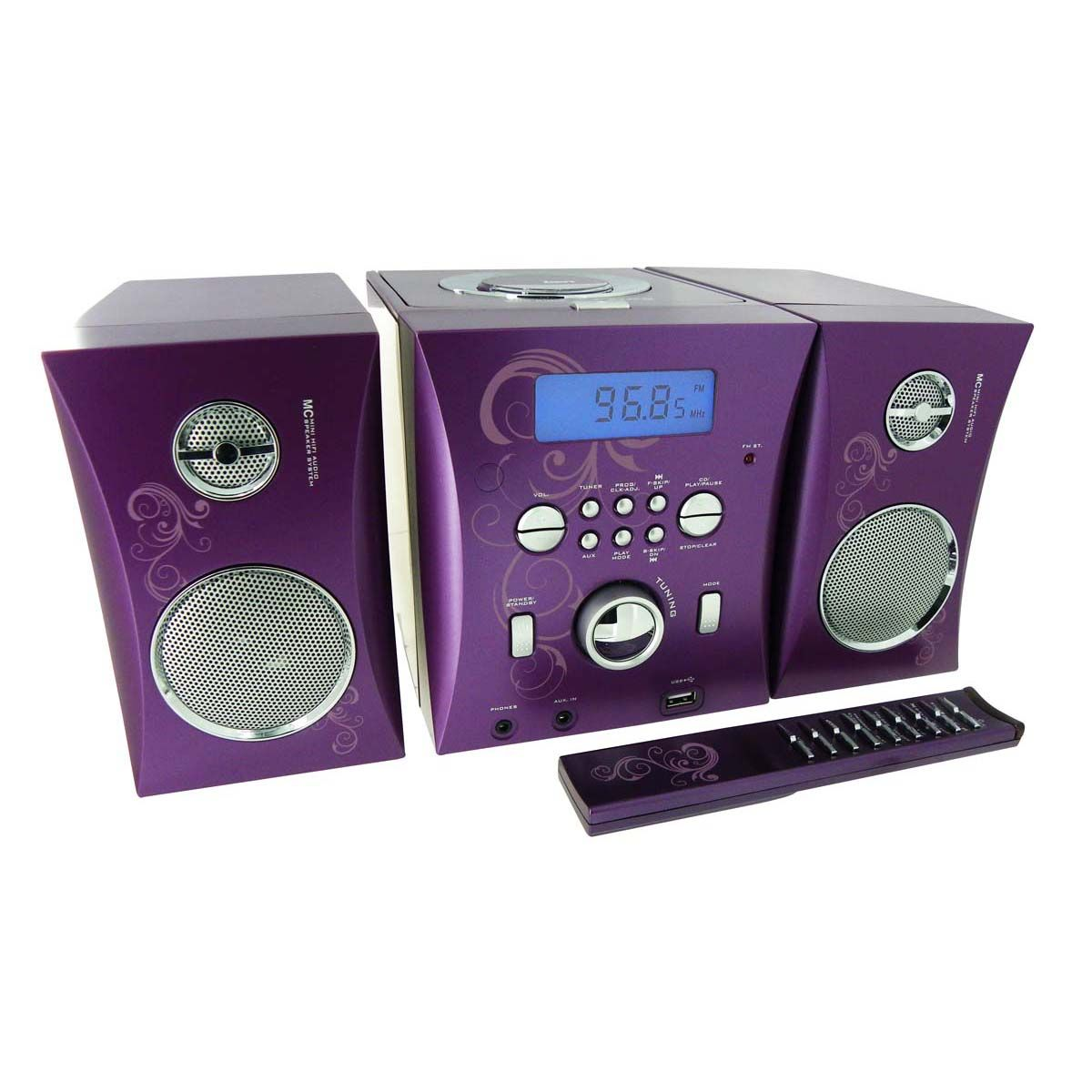 micro cha ne radio cd bigben violette mcd06 arabesque. Black Bedroom Furniture Sets. Home Design Ideas